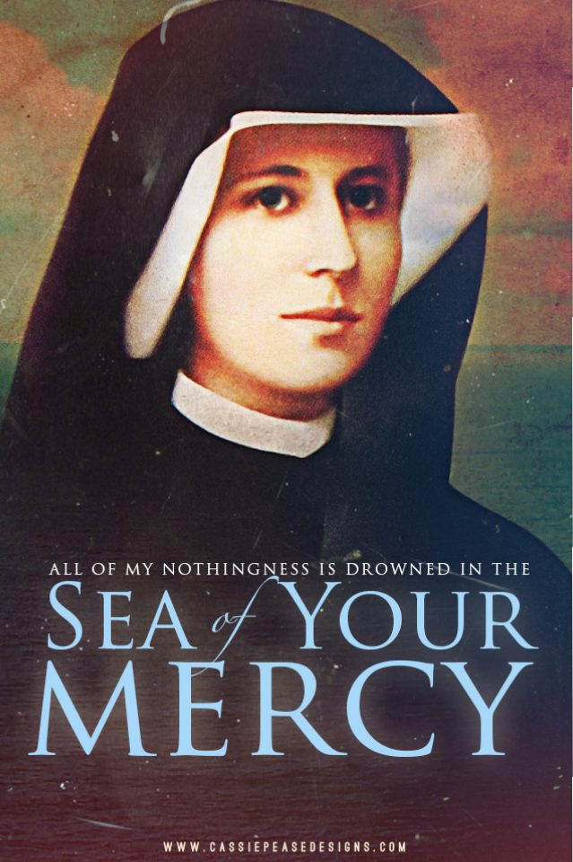 Saint Faustina Mobile Wallpaper