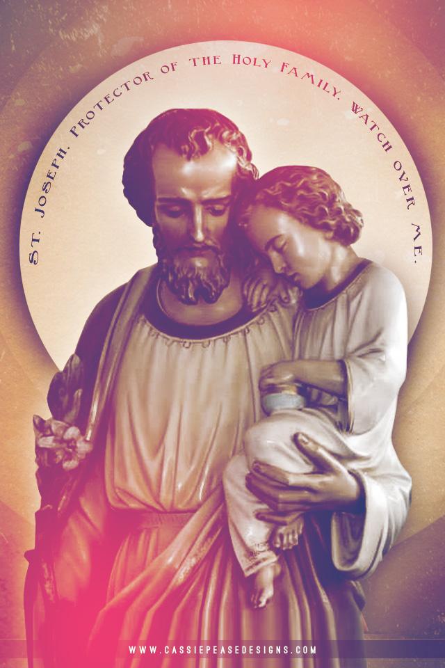 Saint Joseph Protector Mobile Wallpaper
