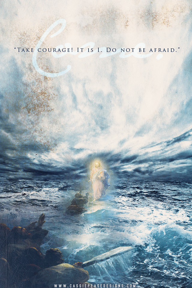 "Jesus on the Water ""COME"" Mobile Wallpaper"