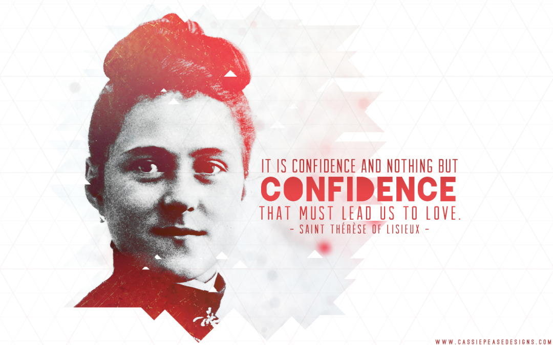 "St. Therese ""Confidence"" Desktop Wallpaper"