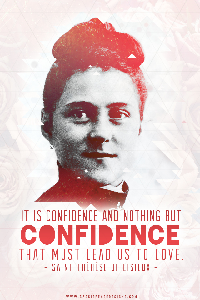 "St. Therese ""Confidence"" Mobile Wallpaper"
