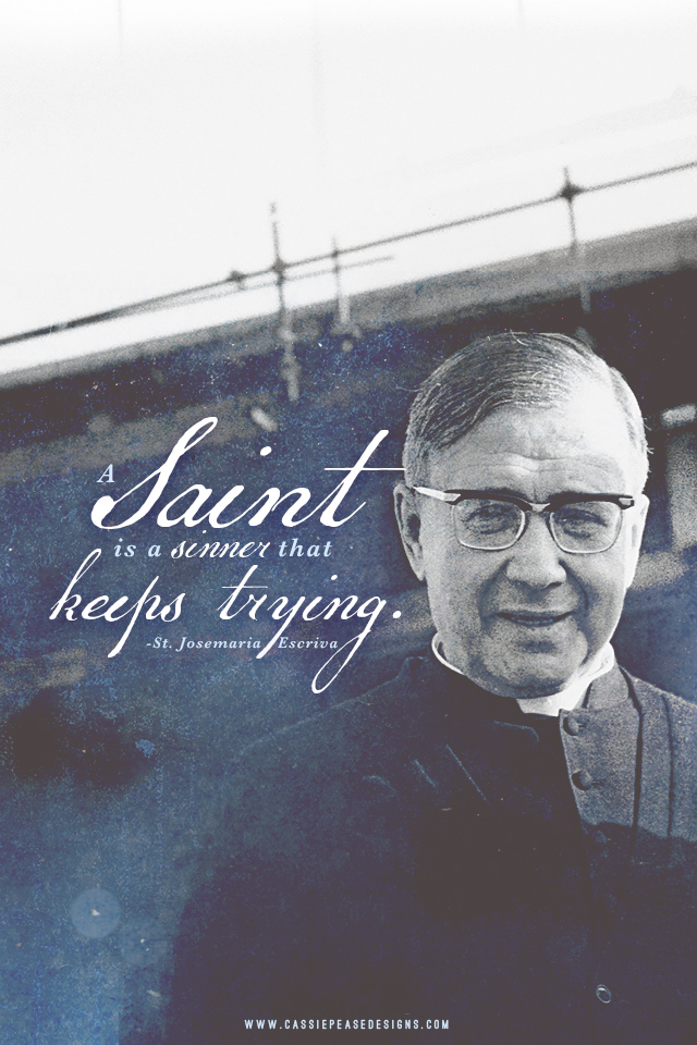 "St. Josemaria Escriva ""Saints"" Mobile Wallpaper"