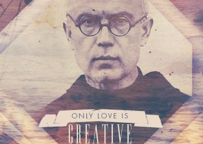 "St. Maximilian Kolbe ""LOVE is CREATIVE"" Mobile Wallpaper"