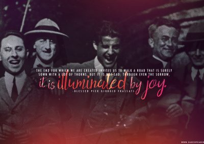 "Bl. Pier Giorgio Frassati ""Illuminated by Joy"" Desktop Wallpaper"