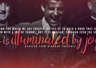 "Bl. Pier Giorgio Frassati ""Illuminated by Joy"" Coverphoto"
