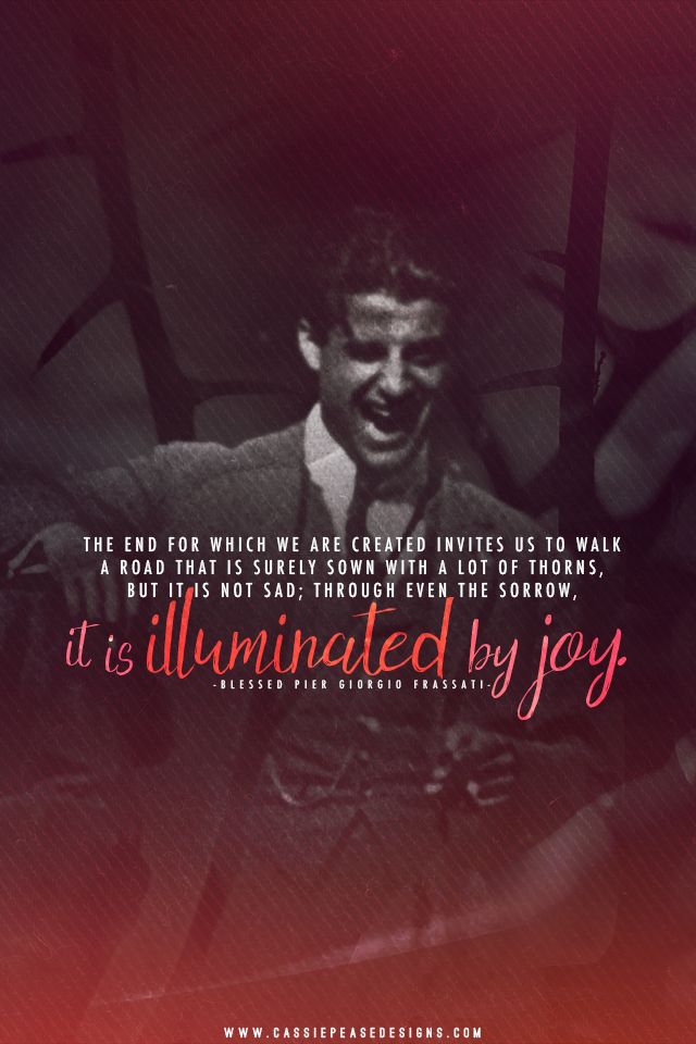 "Bl. Pier Giorgio Frassati ""Illuminated by Joy"" Mobile Wallpaper"