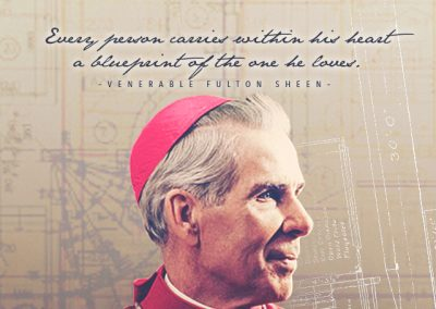 "Ven. Fulton Sheen ""Blueprint"" Mobile Wallpaper"