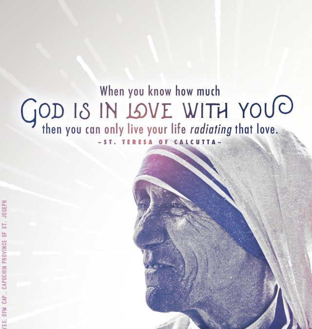 "Mother Teresa ""Radiating Love"" Mobile Wallpaper"