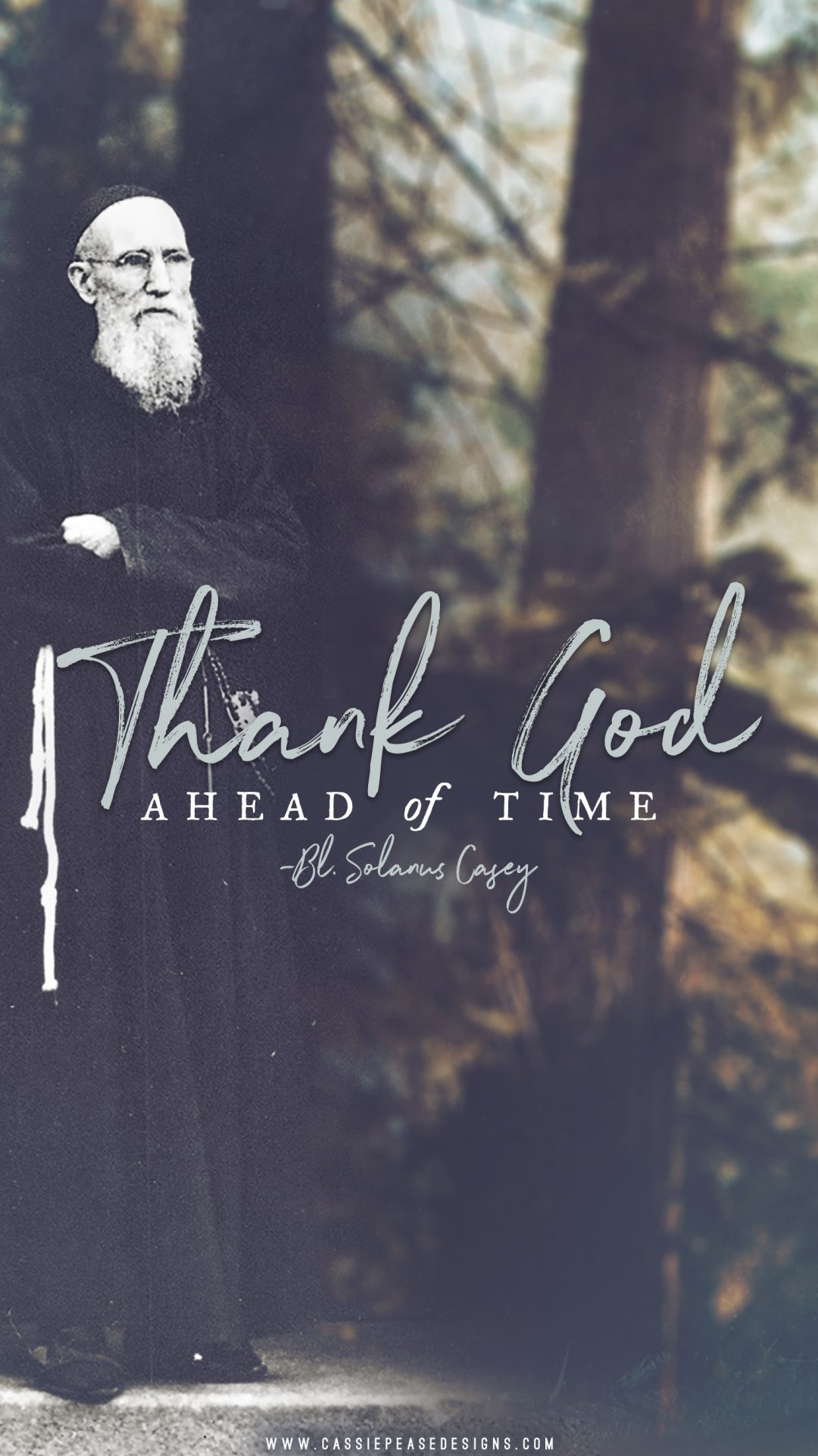 "Bl. Solanus Casey ""Thank God"" Mobile Wallpaper"