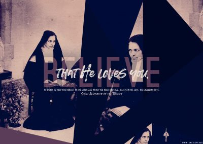 "St. Elizabeth of the Trinity ""Believe that He loves you."" Desktop Wallpaper"
